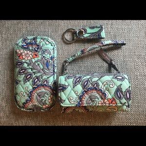 Vera Bradley keychain, wristlet and eyeglass case